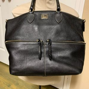 Dooney & Bourke Black Pebbled Large Leather Tote
